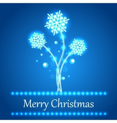 Christmas concept background with snowflakes vector image vector image