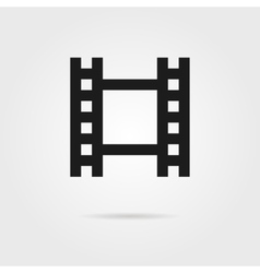 simple celluloid film black icon vector image