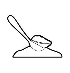 Spoon with sugar powder vector