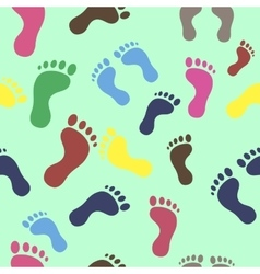 trail leg seamless texture colored vector image