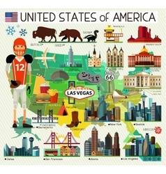 USA Travel Map vector image vector image