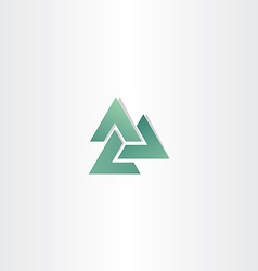 abstract business green triangle logo element vector image