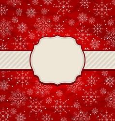 Christmas vintage invitation with snowflakes vector image