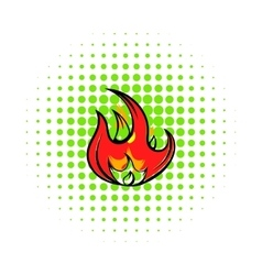 Fire icon comics style vector image vector image