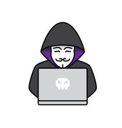 icon of hacker vector image vector image