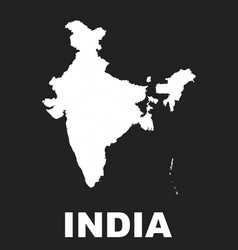 india map icon flat india sign symbol with on vector image vector image