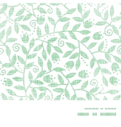 Leaves and swirls textile horizontal frame vector image vector image