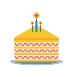 party piece cake icon image vector image vector image
