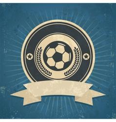 Retro Soccer Ball Emblem vector image