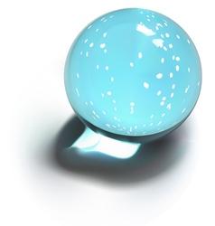 Snowflakes crystal ball vector image vector image