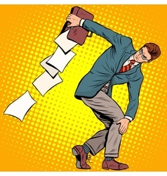 businessman discus thrower vector image vector image