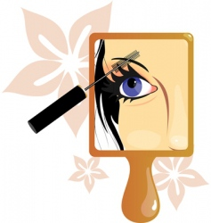 make up picture in mirror vector image vector image