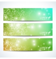 Set of horizontal banners Background vector image