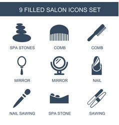 9 salon icons vector