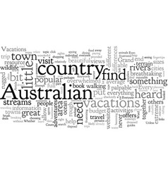 Australian vacations for everyone vector