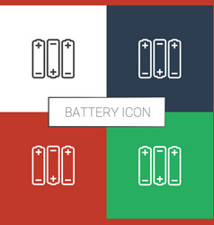 Battery icon white background vector