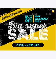 big super sale banner design vector image