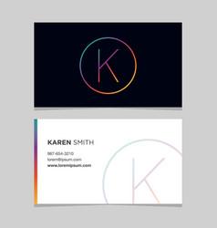 Business-card-letter-k vector