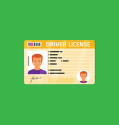 Car driver license identification with photo vector