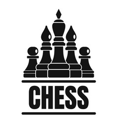 chess game logo simple style vector image