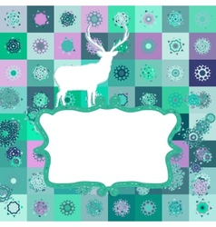 Christmas deer tempate card EPS 8 vector image