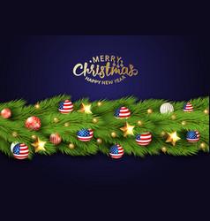 christmas partiotic border vector image