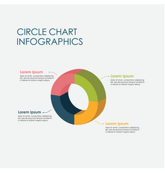 Circle chart pie chart infographics elements 3d vector