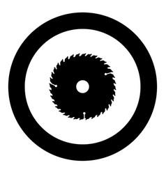 Circular disk icon black color in round circle vector