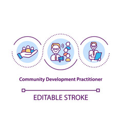 Community development practitioner concept icon vector