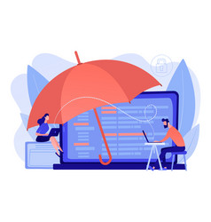 Cyber insurance concept vector