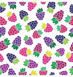 Decorative pattern with wild and garden berries vector