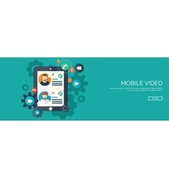 Flat background Social media vector image