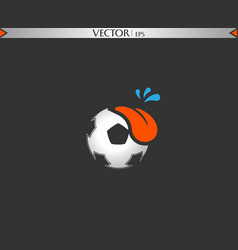 football fun tongue vector image