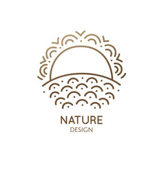 Geometrical nature logo vector