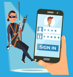 hacker stealing personal password thief vector image