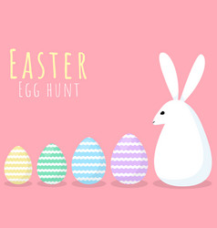 happy easter greeting card with bunny and egg vector image