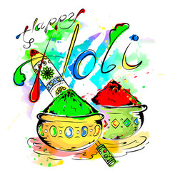 happy holi vector image