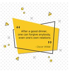 Irish poet oscar wilde quote for thanksgiving day vector