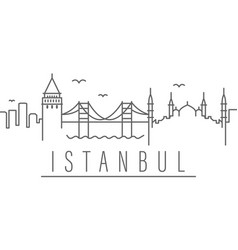 Istanbul city outline icon elements cities and vector