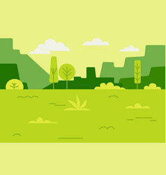 landscape field of green grass vector image