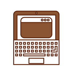 Laptop computer with template vector