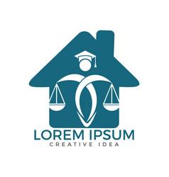 Law house logo design property law logo vector