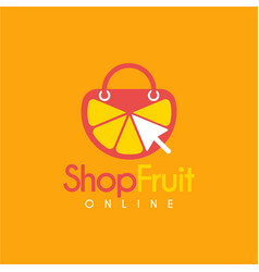 lemonade online shop logo design template vector image