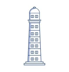 Lighthouse maritime frame icon vector