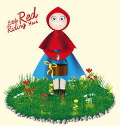 Little Red Riding Hood childrens card vector