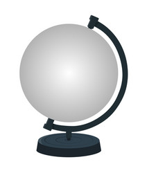 mockup stand for earth globe isolated on white vector image