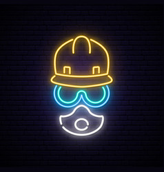 neon builder sign vector image