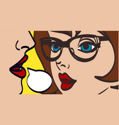 nice pop art retro comic vector image