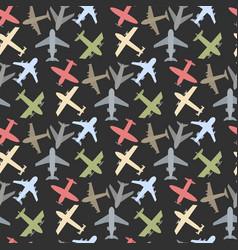 plane icon set vector image