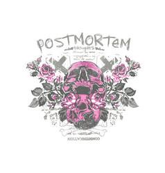 postmortem vector image